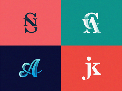 Monogram & Letters Collection on BEHANCE behance behance project collections collection monogram letter mark monogram design letters monogram logo monograms