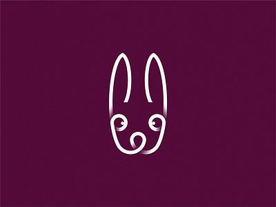 rabbit line rabbit logo rabbits rabbit