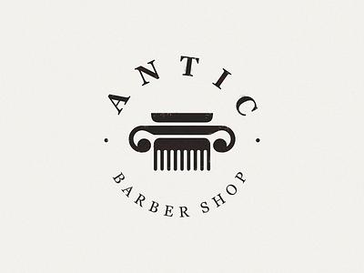 Antic / comb + column barbershop column comb antic