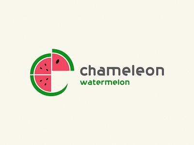Chameleon watermelon watermelon chameleon logo chameleon
