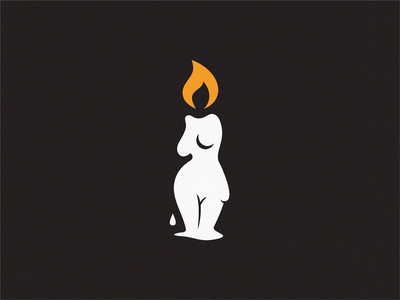 candle hot fire girl women candle