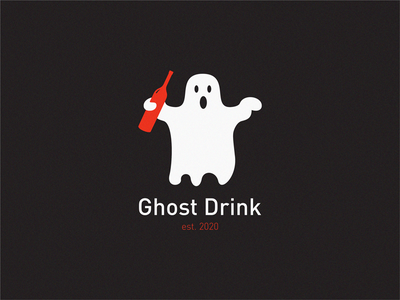 ghost drink wine winery bottle label logo icon symbol brand drinks ghost graphics ghost ghost drink