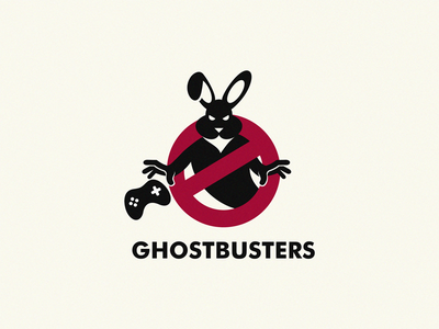 Ghostbusters game rabbit logo ghostbusters