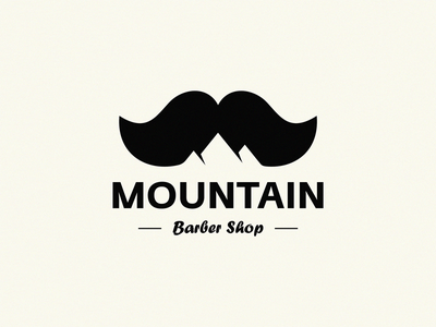 MOUNTAIN barber barbershop rock hill barber logo mountain mountain logo