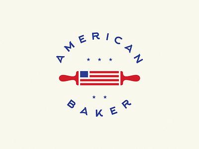 American Baker americana bakery logo bakery american traditional american american flag