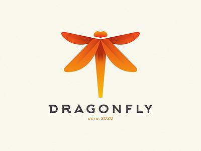 dragonfly gradient design gradient color graphic design graphic gradient logo dragonfly