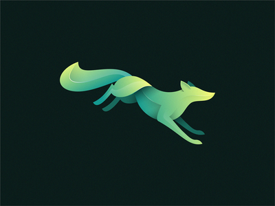 fox graadient fox illustration fox logo