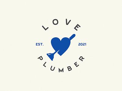 Love Plumber heart logo lover plumber lovely love
