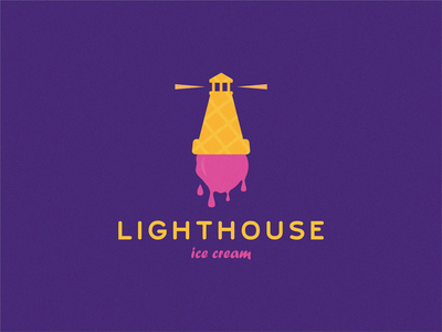 Lighthouse / ice cream wafer sweet logo sweet shop ice cream lighthouse logo