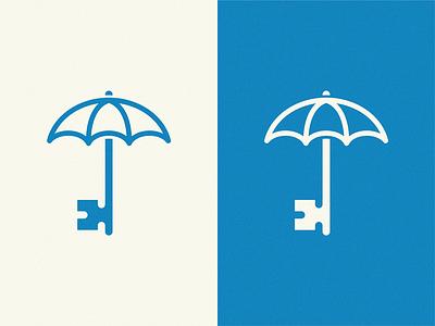 Right Investors /  real estate Investing umbrella logo home house key investors right