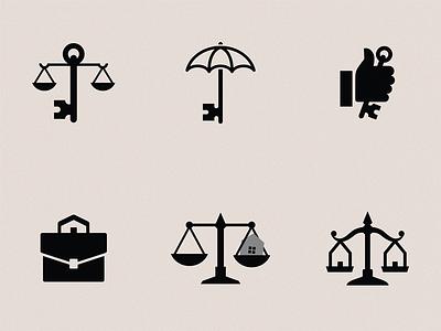 Law House (concepts) hand umbrella logo key conceptsketch concepts law house law house