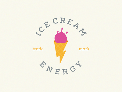 Ice Cream Energy lightning logo icecream energy logo ice cream ice