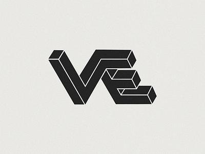 VE lettermark logodesign mnogram