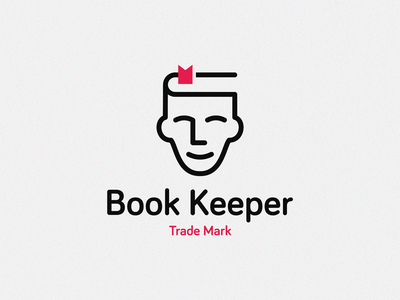 Book Keeper books librarian head book cover design keeper booking book