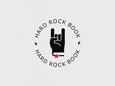Rock book hand drawn hard rock book