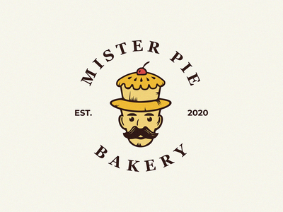 mr Pie bakery logo pie mister