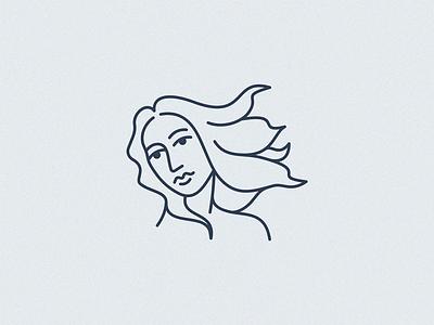 Venus logo design line art venus