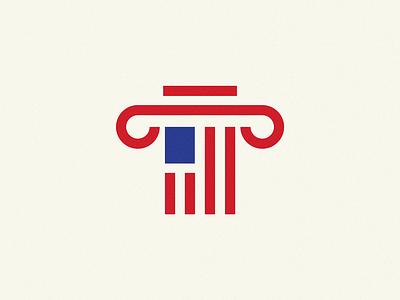 American Architecture house column architecture logo american