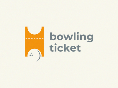 bowling ticket bowling ticket graphic design icon logo