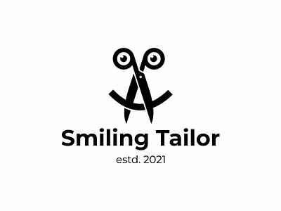 smiling tailor symbol icon logo