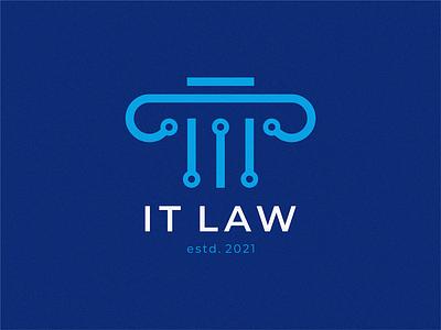 IT LAW graphic design logo it law