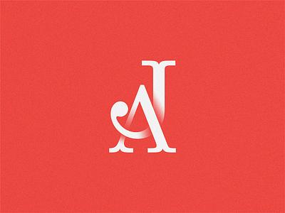JA monogram letter monogram aj ja