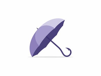 Umbrella umbrella hook fishing symbol logo