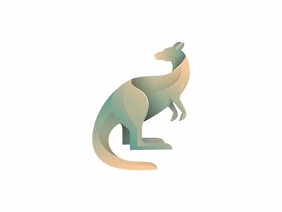 Kangaroo logo icon symbol illustration animal kangaroo