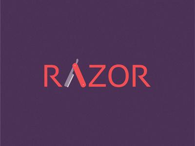 Razor shop barber logo icon razor