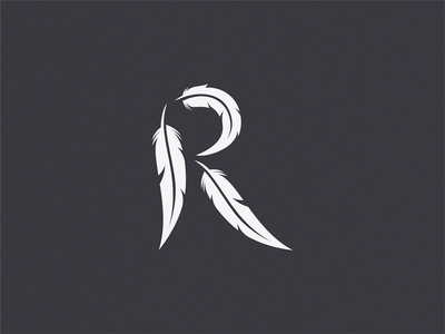 Raven letter r unused logo by yuri kartashev dribbble raven letter r unused logo thecheapjerseys Image collections