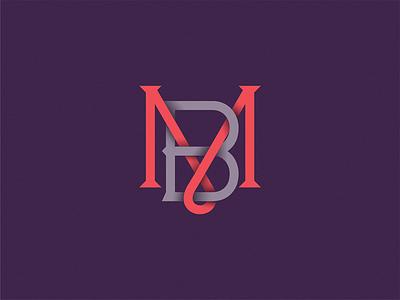 Monogram MB symbol sign monogram logo letter