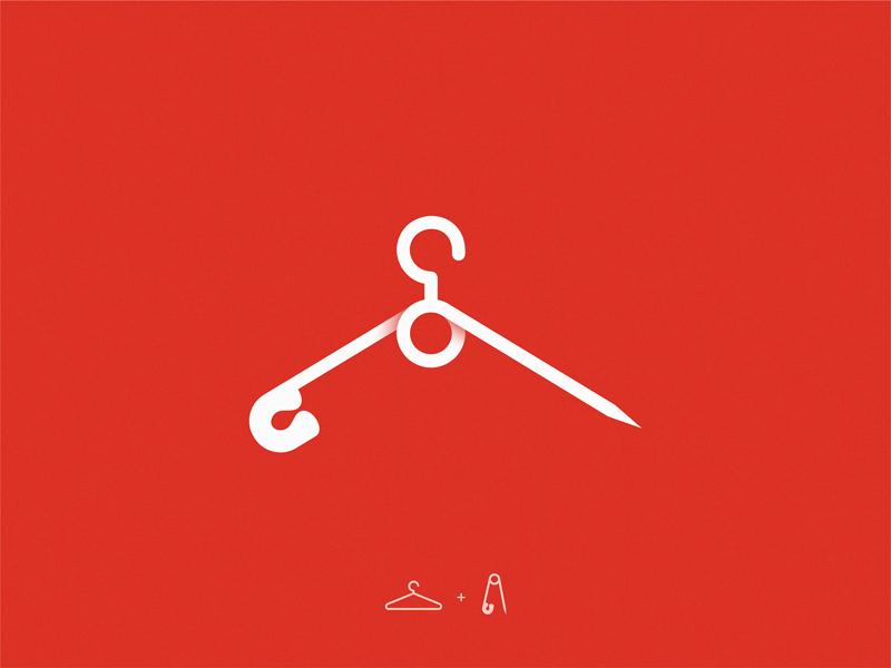 Fashion icon symbol logo pin hanger fashion