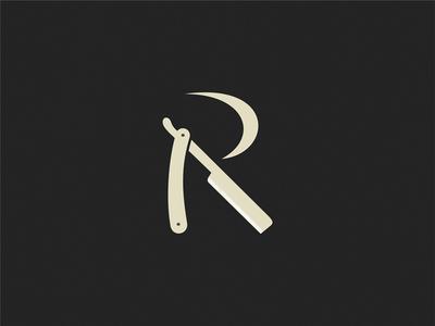 Razor letter R r razor symbol sign logo letter