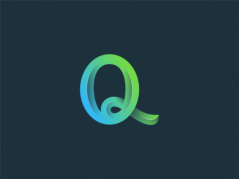 letter Q letter icon logo