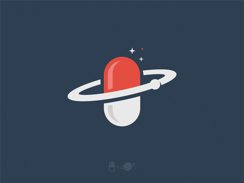 pill planet doc planet pill icon illustration symbol logo