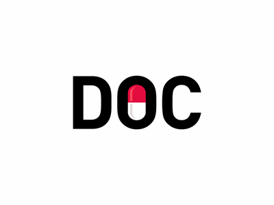 Doc icon illustration symbol logo