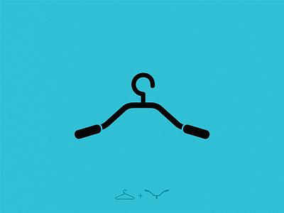 bike hanger icon illustration symbol logo