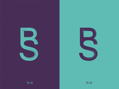 monogram RS  icon illustration symbol logo
