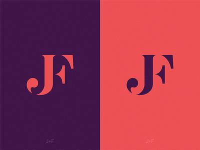 Monogam JF icon illustration symbol logo