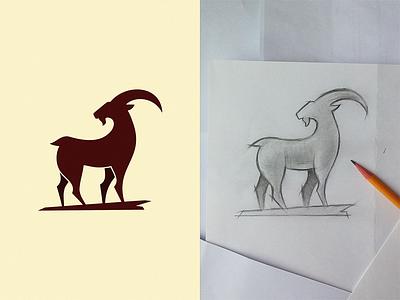 Goat symbol sign icon logo