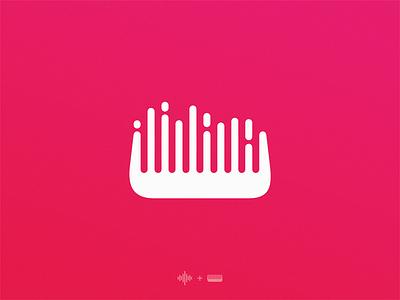 Hair sound logo symbol illustration icon
