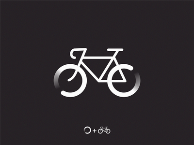 Digital bike  symbol sign icon logo