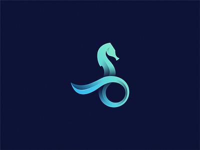 Seahorse 🐴 🌊 design icon brand logo