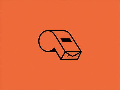 whistle / mail yuro design icon brand logo