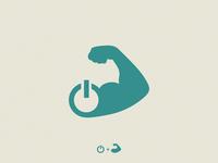 muscle +  power / logo idea