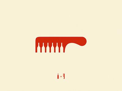 wine comb yuro design icon brand logo