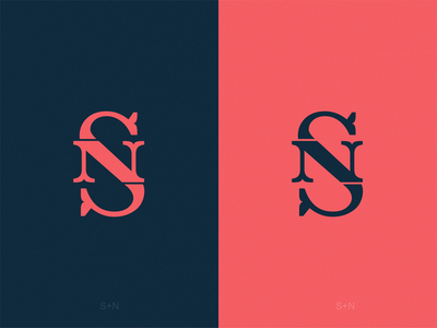 Monogram SN yuro design icon brand logo