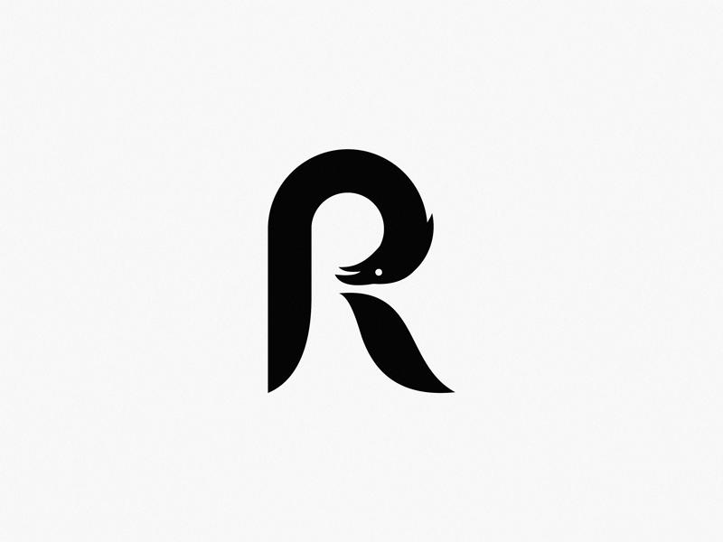 letter r raven by yuri kartashev dribbble dribbble