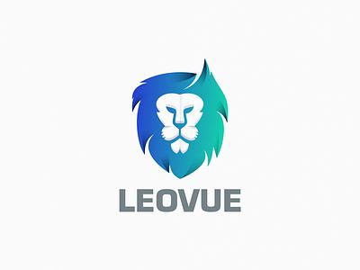 Leovue animal yuro design symbol logo
