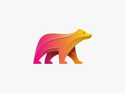 Bear animal identity illustration design brand symbol icon logo